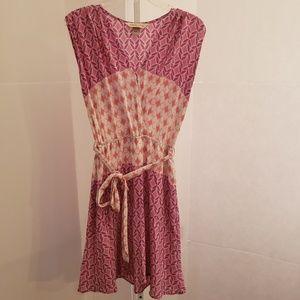 Presley Skye pink white orange Aztec print dress